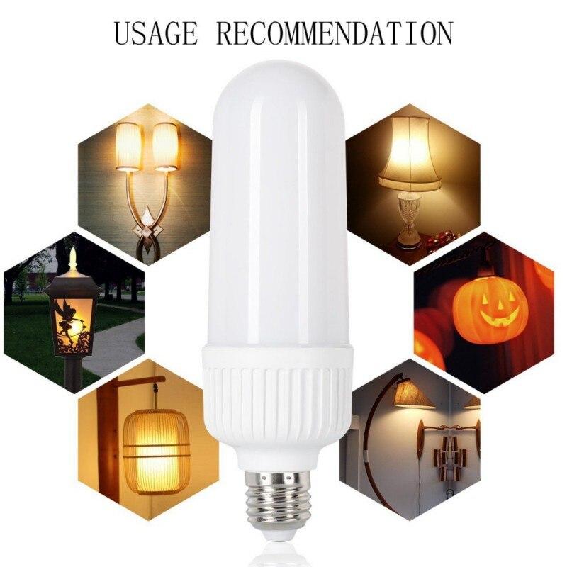 Safe & Energy Saving LED lamp Flame Effect Fire Light Bulbs E27 3W Flickering Emulation flame Lights