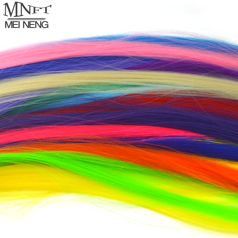 MNFT 5PCS Mixed Color Fly Tying Fiber Fishing Tackle For Fly Fishing Tying Material DIY Bait Line Smooth Durable Fiber Synthetic