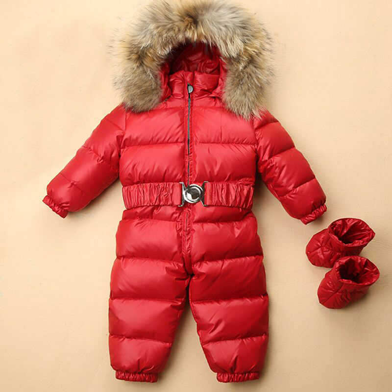 Зимняя одежда для детей Зимний комбинезон зимний комбинезон для маленьких  мальчиков зимняя одежда комбинезоны для малышей a22807314eda4