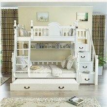 kids bedroom white furniture triple bunk bed