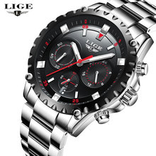 2017 LIGE NEW Top Men's Watches Brand Luxury Men Sports Quartz Watch Man Fashion Multifunctional Date Clock Relogio Masculino