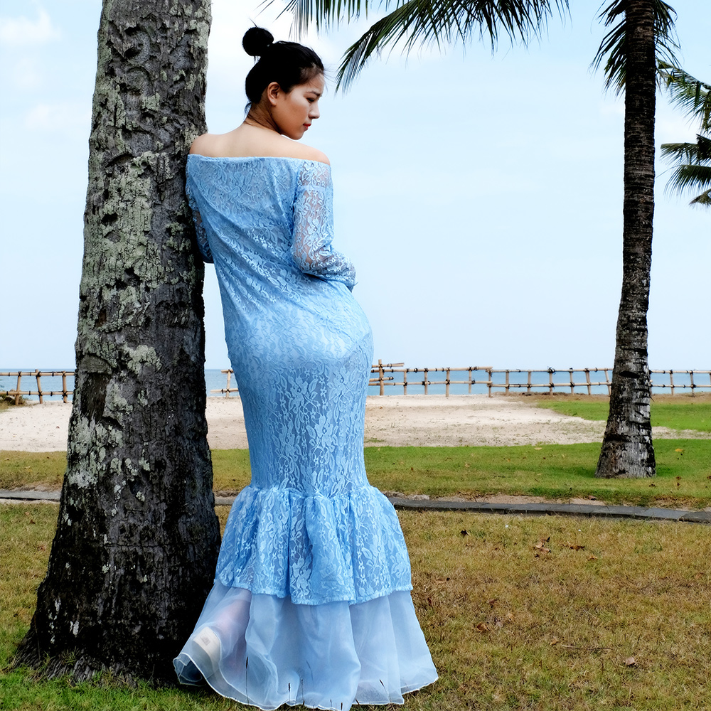 SMDPPWDBB Maternity Photography Props Gown Pregnancy Clothes Maxi ...