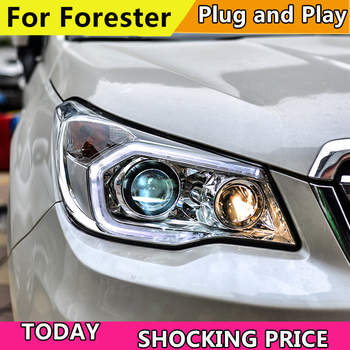 ADD postage for Subaru Forester Headlights 2013-2016 LED Headlight DRL H7 D2H Hid Option Angel Eye Bi Xenon Beam image