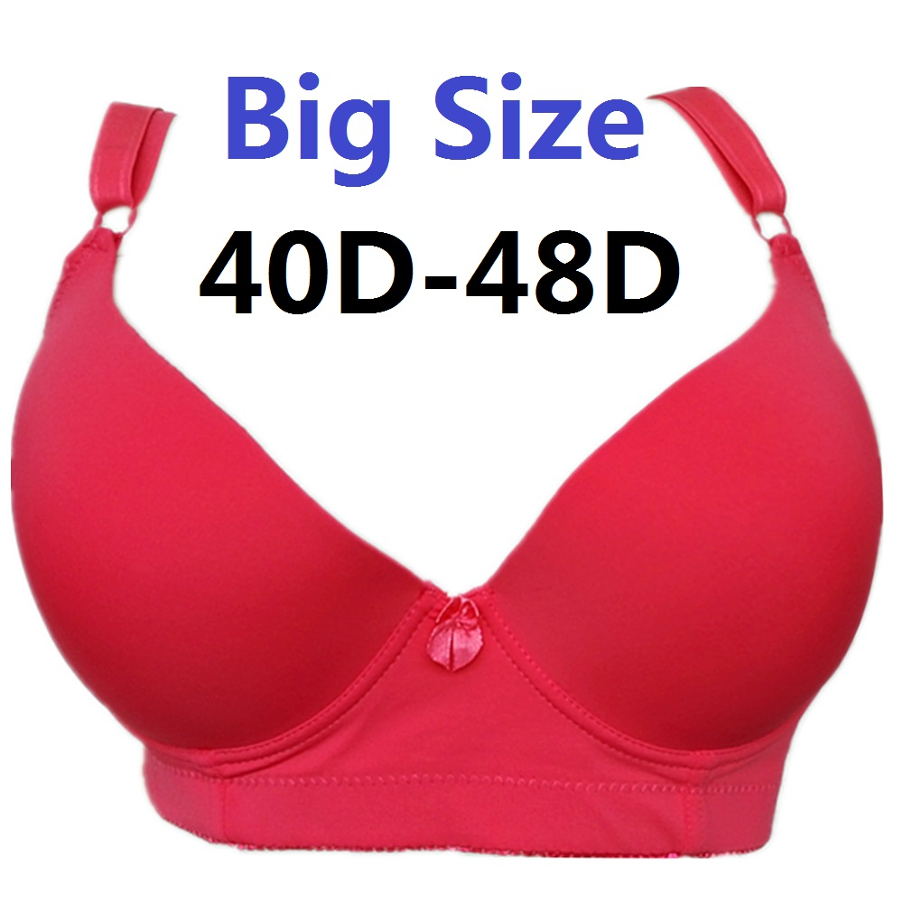 Women's Sexy T-shirt Essential Padded Plus Size No Push up Underwire Full Coverage Lace Bra 42-50DD cups Big Sizes H319