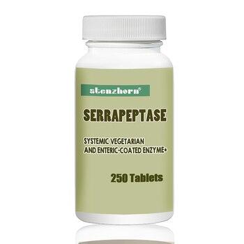 شحن مجاني Serrapeptase 80 ، 000iu انزيم قد تقلل لزوجة المخاط في الجهاز التنفسي.