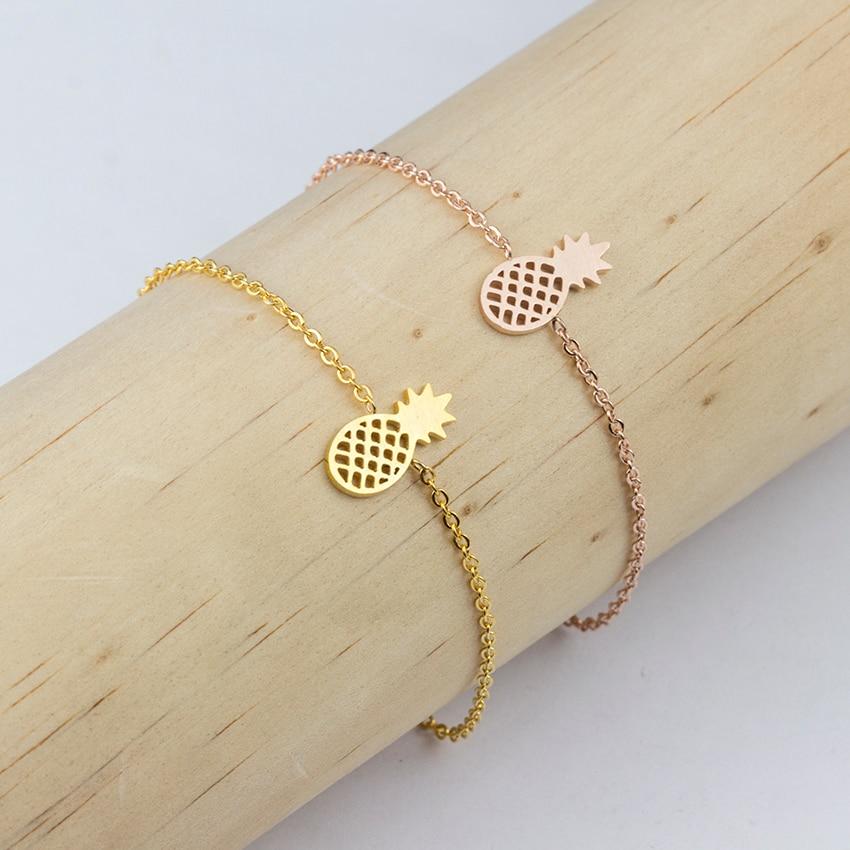 Minimale Ananas Armbänder & Armreifen Edelstahl Armbänder für - Modeschmuck - Foto 6
