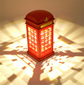1 pcs Retro London Telephone Booth Noite Luz USB Battery Dual-Use LED Mesa lâmpada de Mesa Lâmpada de Cabeceira luminarias Casa Presente Decor