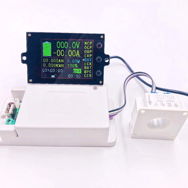 DC 120v 18 in 1 Wireless voltage meter ammeter Solar Battery Charging coulometer capacity Power detector Tester