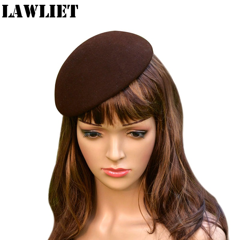 A048 Brown Bowl  Circle Wool Felt Pillbox Hat Millinery Fascinator Base Cocktail Party wedding high quality portable pure copper moxa tank facial beauty body moxibution box health care moxibustion tools 1 set