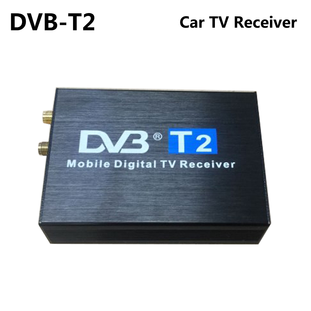 High Speed 110km/h DVB-T2 DVB-T Car TV Receiver Double Dual Antenna DVB T2 DVB T Receptor H.264 MPEG4 Mobile Digital TV Tuner idoing high speed hd car tv tuner mobile dvb t t2 mpeg 4 digital tv receiver box dual antennas for russia european