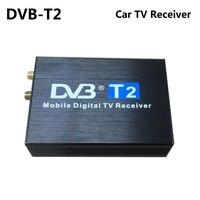High Speed 110km/h DVB T2 DVB T Car TV Receiver Double Dual Antenna DVB T2 DVB T Receptor H.264 MPEG4 Mobile Digital TV Tuner