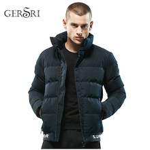 Gersri Winter Spring Jacket Men Brand Parka Male Clothing Zipper Cotton Padded Hooded Thick Quilted Jackets Coat Mens Hoodies(China)