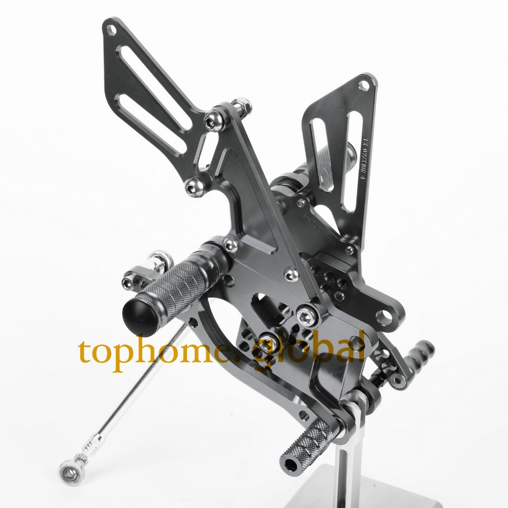 CNC Motorcycle Parts Rearsets Foot Pegs Rear Set For KAWASAKI ZX10R 2008-2009 2010 Titanium Color cnc motorcycle adjustable billet foot pegs pedals rest for kawasaki zx10r zx 10r zx 10r 2006 2007 2008 2009 2010