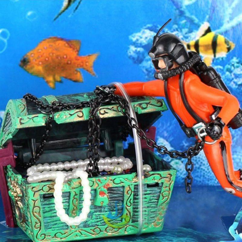 Resin And Plastic Fish Tank Decoration Treasure Hunt This Pr