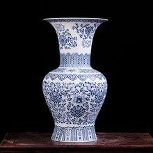 Jingdezhen ceramic vase Antique blue-and-white porcelain mesa floret bottle blue and white vase
