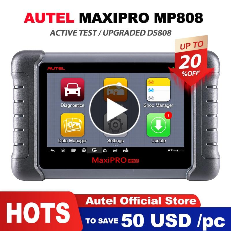 Autel MaxiPRO MP808 OBD2 Scanner Car Ferramenta de Diagnóstico OBDII OE-nível de Controle Bi-direcional Leitor de Código de programador chave PK DS808