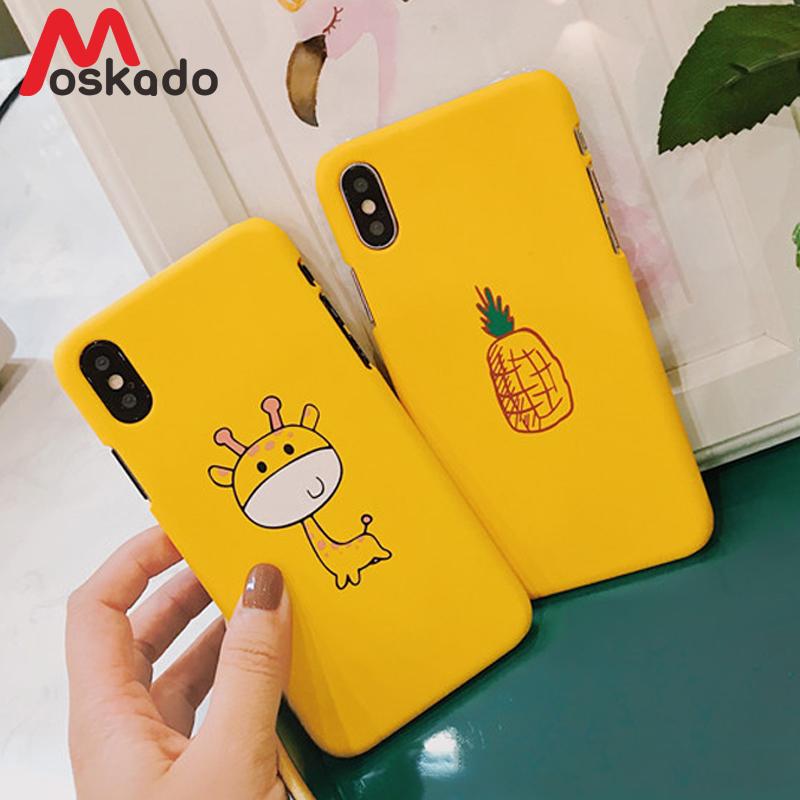098ec82554 Moskado Cartoon Animals Phone Cases For iphone X 8 7 6 6S Plus Hard PC Back Cover  Couples ...