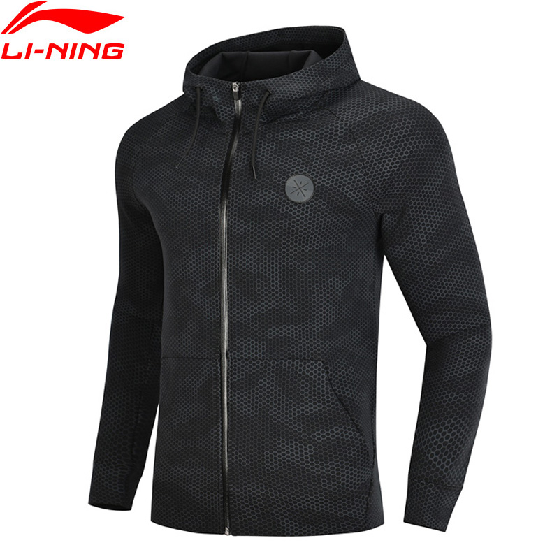 Li-Ning Men Wade Series Hooded Sweater Regular Fit Hoodie 66% Cotton 34% Polyester LiNing Comfort Tops AWDN671 MWW1413Li-Ning Men Wade Series Hooded Sweater Regular Fit Hoodie 66% Cotton 34% Polyester LiNing Comfort Tops AWDN671 MWW1413