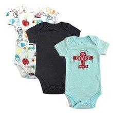 Baby Bodysuit Newborn Print Body Suit Fashion Summer Children Girl Boy Long Sleeve Toddler Jumpers Infant 3Piece/lot