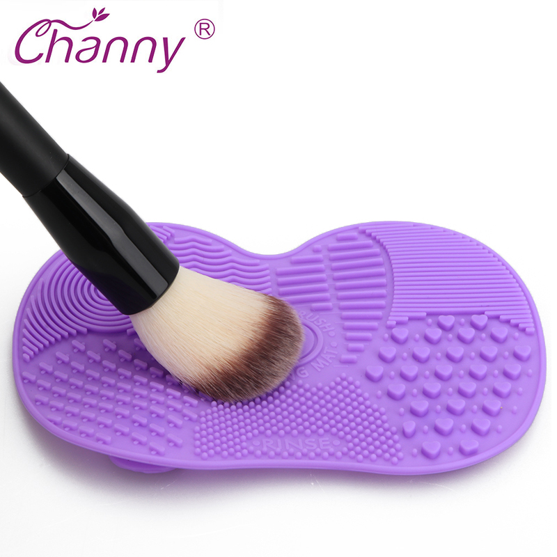Silicone Brush Cleaner Mat Washing Tools For Cosmetic Make Up Eyebrow Brushes Cleaning Pad