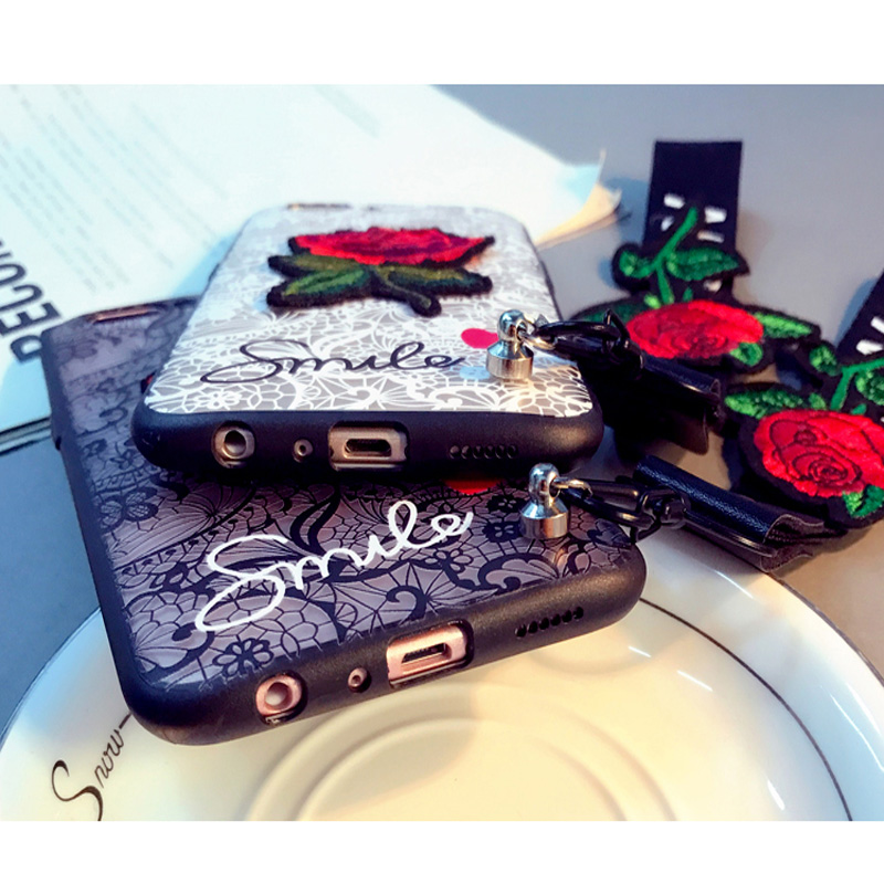 Luxury Relief Lace Roses Flowers Case For Samsung Galaxy S8 S9 S7 Edge S6 A8 Plus 2018 A3 A5 A7 J5 J3 J7 2017 Note 8 5 4 Fundas