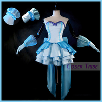 [Customize]2018 Anime Mermaid Melody Pichi Pichi Pitch Hanon Hosho Blue Lolita Dress Cosplay Costume For Halloween Free Shipping