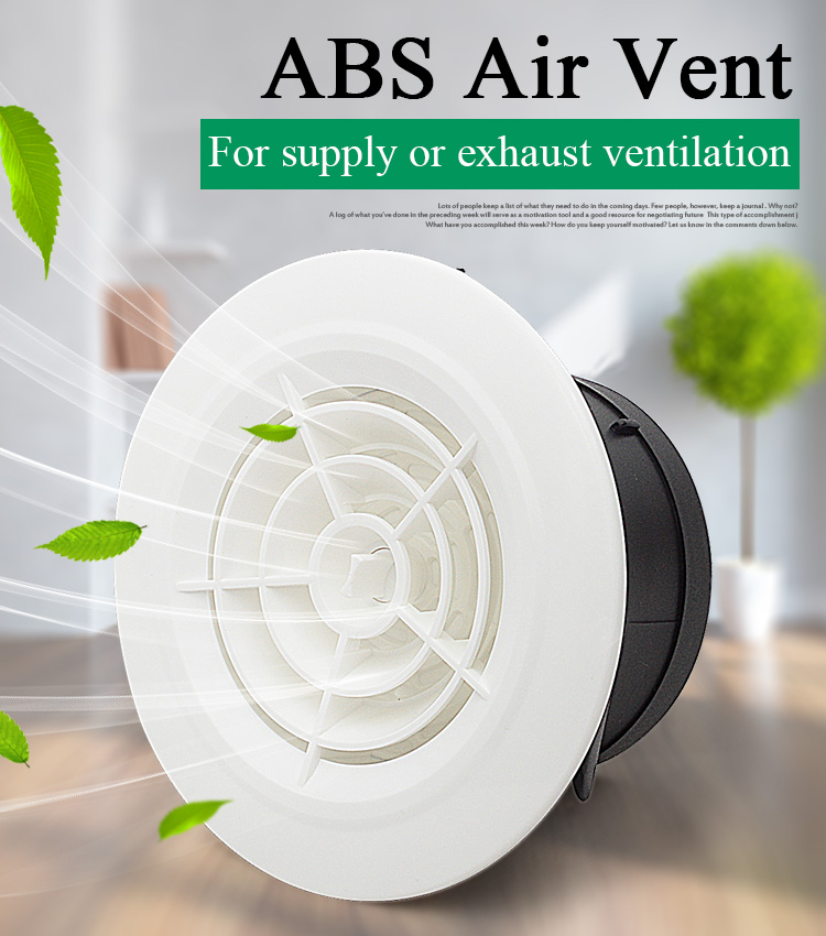 4/6 Inch Plastic Air Vent Cover Bathroom Wall And Ceiling Exhaust Ventilation Grille For Round Duct Pipe 100/150mm