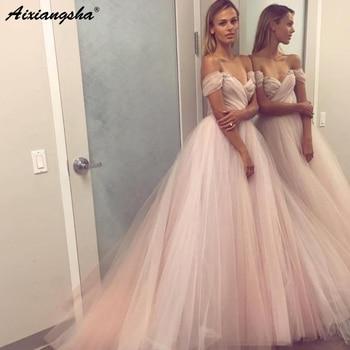 Modest Prom Dresses 2019 Ball Gown vestidos de fiesta largos elegantes de gala Off The Shoulder Sweetheart Dress Evening Gown