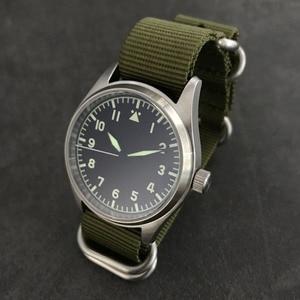 Image 3 - 산 마틴 패션 여성 남성 파일럿 시계 스테인레스 스틸 시계 200m 방수 자동 운동 손목 시계 사파이어 39mm