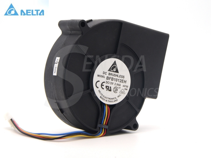 Free Shipping For Delta BFB1012EH PWM Blower 1U 2U Server Dedicated Turbofan 9733 97x97x33mm 9.7cm 12V 2.94A