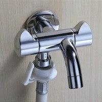 Double Outlet Outdoor Garden Faucet Bathroom Faucets Wall Mounted Faucet Angle Valve