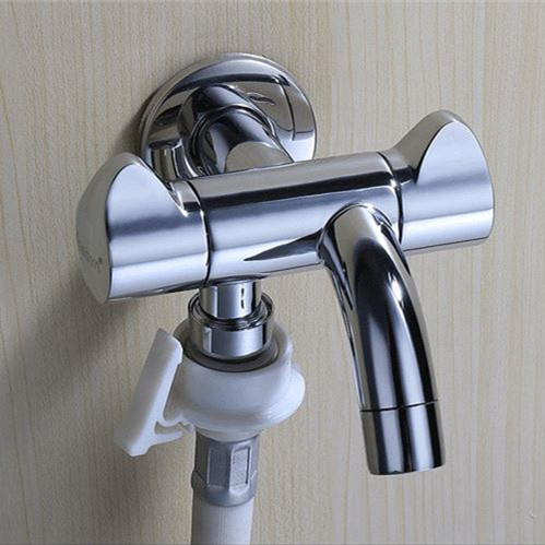 Wall Mounted Double Outlet Outdoor Garden Faucet Bathroom Faucets Wall Mounted Faucet Angle Valve