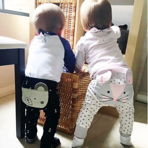 Infant Baby Boys Girls Pants Cartoon Cute Pattern Bottoms Long Pants Leggings Trousers For 0-24M