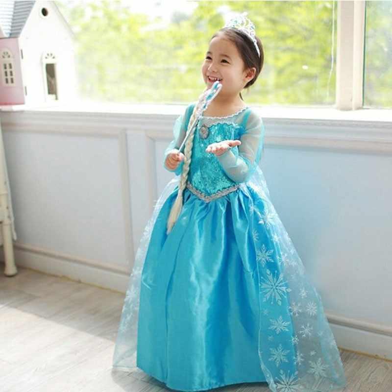 Nieuwe Collectie Jurken Meisjes Prinses Anna Elsa Cosplay Kostuum Kid's Party Jurk Kinderen Meisjes Kleding