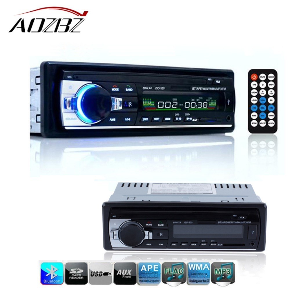 aozbz car radio stereo player digital bluetooth car mp3. Black Bedroom Furniture Sets. Home Design Ideas
