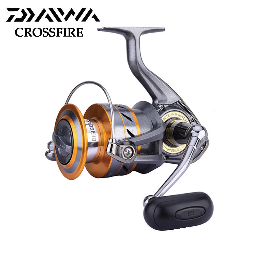 New DAIWA fishing reel CROSSFIRE freshwater & saltwater Fishing reels 2000/2500/3000/4000 with Light body 3 bearings катушка daiwa crossfire 2000 reel 10117 200ru