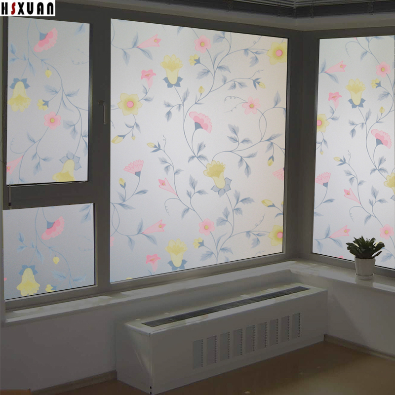 25 Modern Ideas To Use Stained Glass Designs For Home: Stained Glass Decorative Window Film Privacy 60x100cm