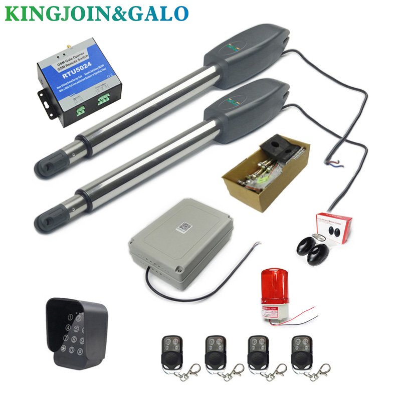 Image 3 - DC24V AC220V Linear Actuator Worm Gear Automatic Swing Gate Opener (photocells, lamp,button,gsm,keypad optional)-in Access Control Kits from Security & Protection