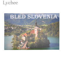 Lychee Life Bled Slovenia Landscape Fridge Magnet Rectangle Metal Refrigerator Magnets Travel Souvenirs Home Decoration