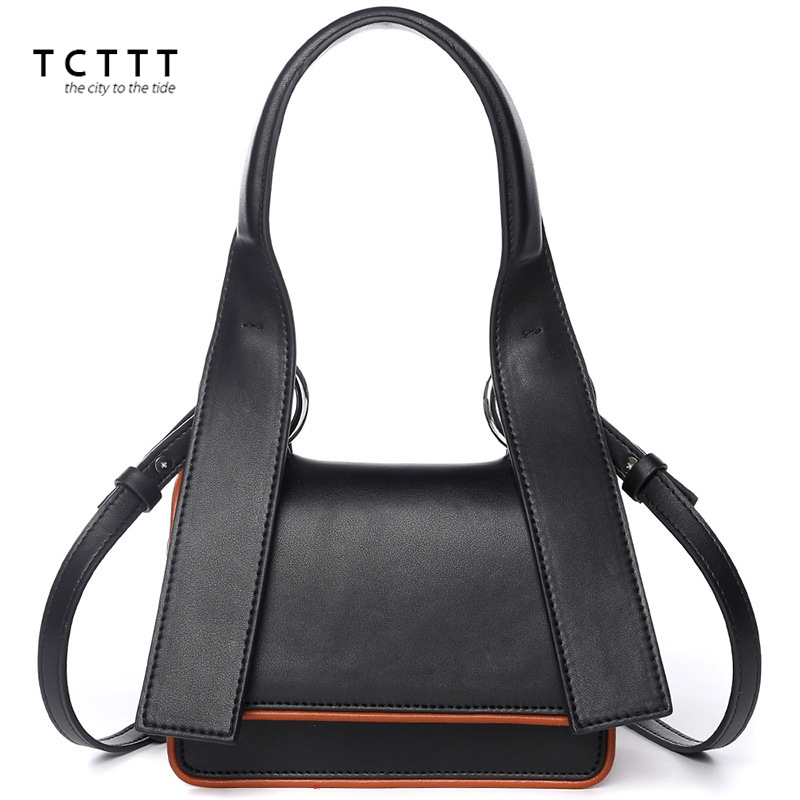 TCTTT Latest style women Shoulder bags High Quality small Split leather Crossbody bag for ladies Fashion Luxury designer Handbag tcttt luxury handbags women bags designer fashion women s leather shoulder bag high quality rivet brand crossbody messenger bag