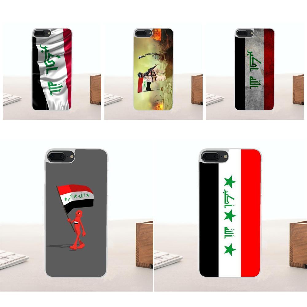 Bixedx Iraq National Flag For Xiaomi Redmi 5 4A 3 3S Pro Mi4 Mi4i Mi4C Mi5 Mi5S Mi Max Mix Note 2 3 4 Plus Soft TPU Coque Case