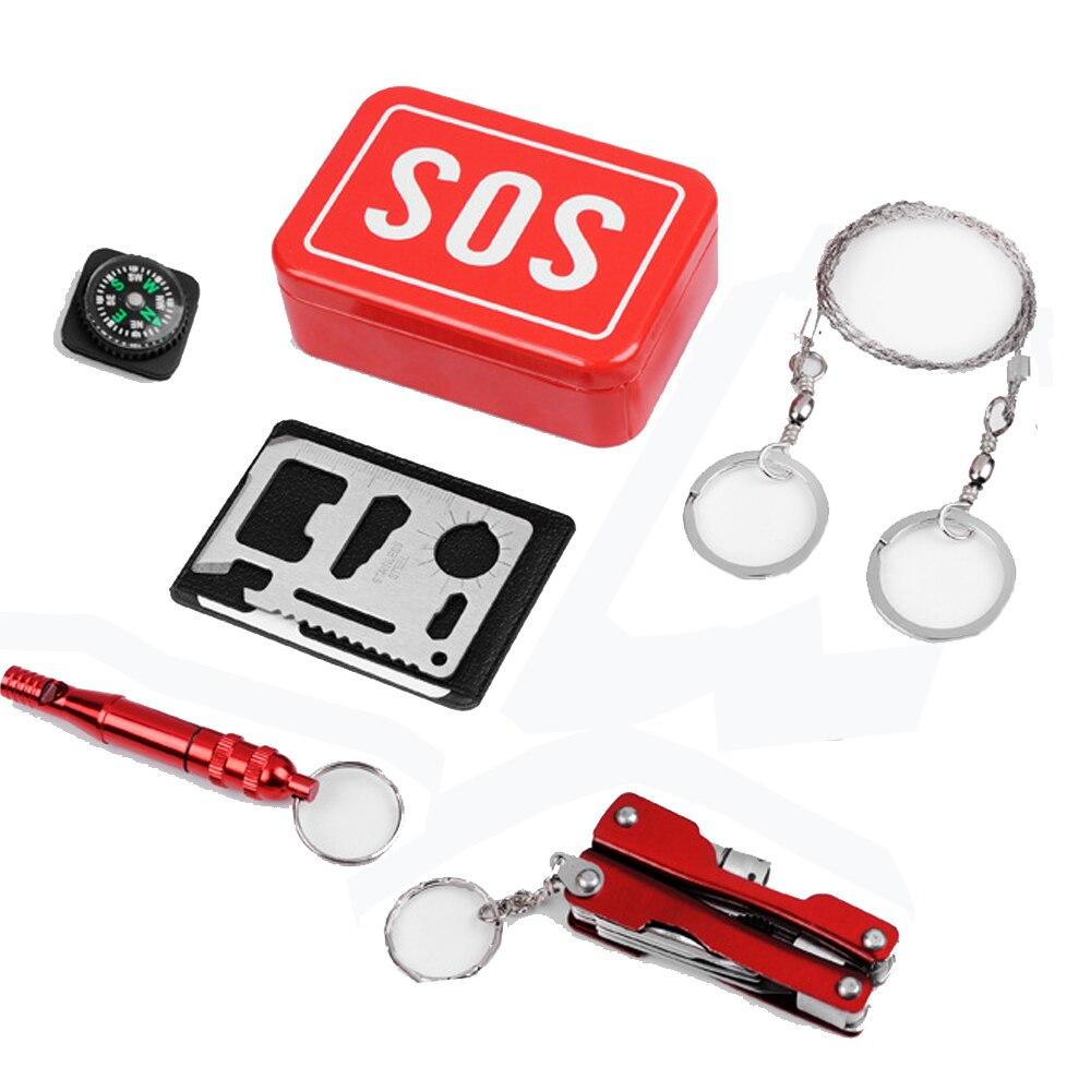 2017 attrezzature utilizzate All'aperto campo sacchetto di emergenza kit di sopravvivenza box auto-aiuto SOS attrezzature per Caccia pesca ha veduto il trasporto libero