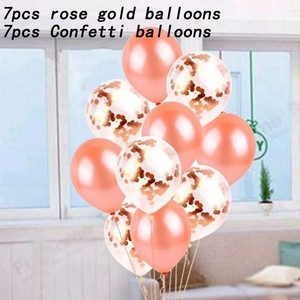 Image 5 - 14 Piece Rose Gold latex Balloons Wedding Decoration Birthday Party decorations Adult 18 Inch Heart Shape Gift helium balloon