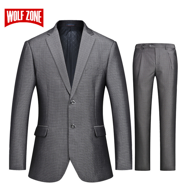1012353e2e WOLF ZONE 2018 Brand Formal Suit Men Business Casual Slim Fit Suits with  Pants Luxury Blazer