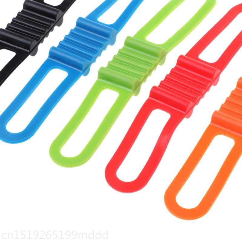 Для велосипеда из силикона полоса сильный упругий велосипед руль фонарик крепление застежки галстук