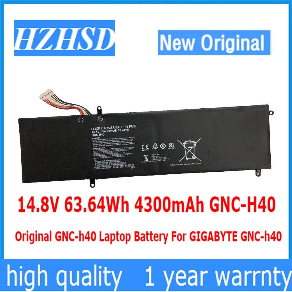 14.8 V 63.64Wh 4300 mAh GNC-H40 Dorigine GNC-h40 batterie dordinateur portable Pour GIGABYTE GNC-h4014.8 V 63.64Wh 4300 mAh GNC-H40 Dorigine GNC-h40 batterie dordinateur portable Pour GIGABYTE GNC-h40
