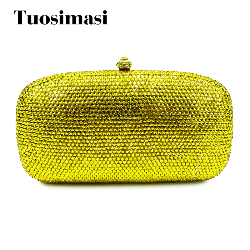 Dazzling plain gold crystal clutch bags metal clutch bag for ladies use цена 2017
