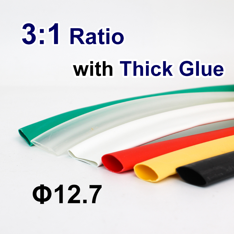 1.22meter/lot 12.7mm 3:1 Heat Shrink Tube With Glue Adhesive Lined Dual Wall Shrink Tubing Wrap Wire Cable Kit