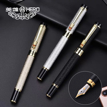 Free Shipping Hot Selling Brand Hero 6006 Dragon Metal Fountain Pen Office Writing Business Luxury Pen Buy 2 Pens Send Gift 0 38mm nib picasso ps t86 finance fountain pen for girl high end luxury standard pens gift set hot selling free shipping