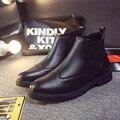2015 Nuevos Hombres Botas de Invierno botas Fahion Hombres Brogue bueyes Martin botas Para Hombre Zapatos botas hombre